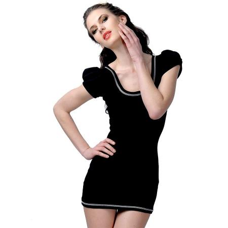 organic_fairtrade_puff_sleeved_Tshirt_dress_woman