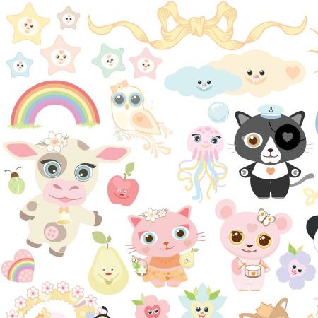 recycled_nursery_stickers_animals_decor