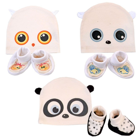 Organic_fairtrade_hat_socks_baby_owl_bear_panda_gift