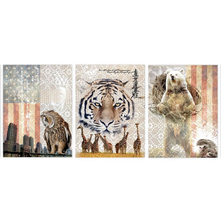 decor_canvas_animals_vegan_room_tiger_bear_ecocolors_owl_bear_american