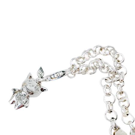 silver_good_luck_charm_zirconia_dog_pendant
