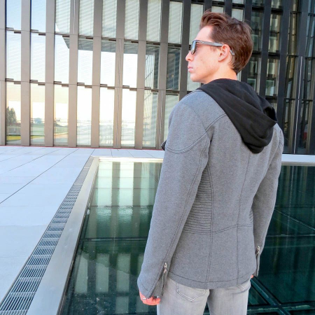 man_male_jacket_biker_organic_fairtrade_vegan_gray_hoodie
