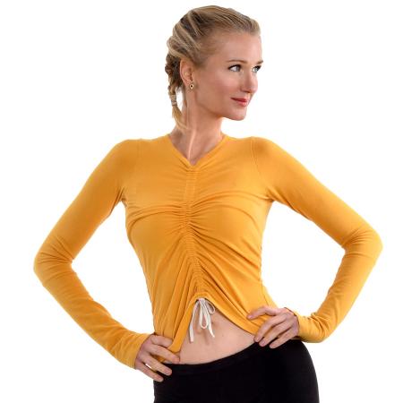 Bamboo_Yellow_Yoga_Top_Vegan
