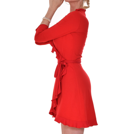 Ruffles_Organic_Vegan_FairTrade_Dress_Red1