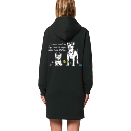 Vegan Organic Fair Trade Sweater Tunic Hoodie